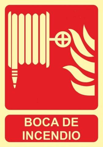CARTEL FOTOLUMINISCENTE BOCA DE INCENDIO CLASE B