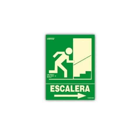 CARTEL ESCALERA DE EMERGENCIA - DERECHA CLASE B