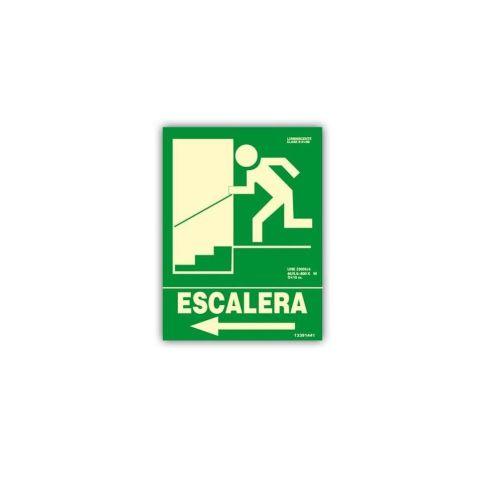 CARTEL ESCALERA DE EMERGENCIA -  IZQUIERDA CLASE B