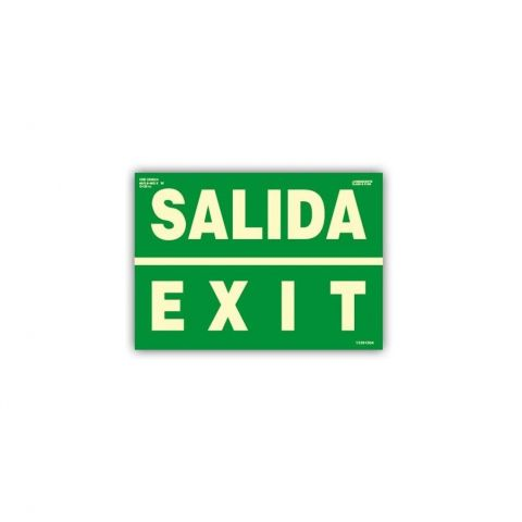 CARTEL FOTOLUMINISCENTE SALIDA EXIT CLASE B
