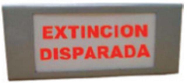 LETRERO LUMINOSO EXTINCIÓN DISPARADA CASTELLANO.