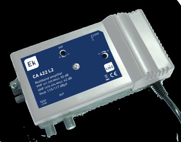 CENTRAL 2 IN VHF/UHF. 30DB/42DB. 117DB?V.
