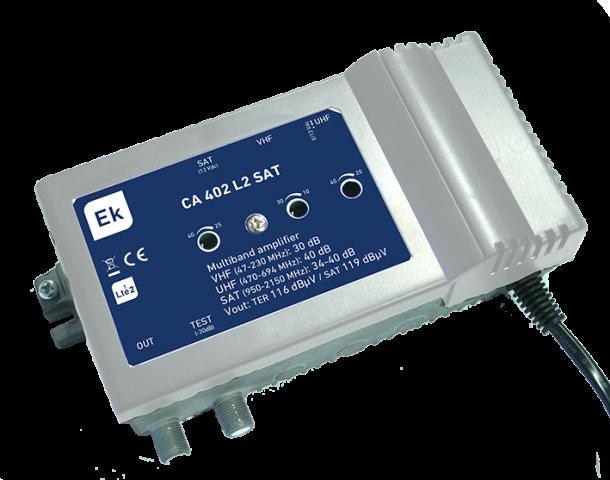 CENTRAL 3 IN: VHF/UHF/SAT. G: 30DB / 40DB / 34-40D