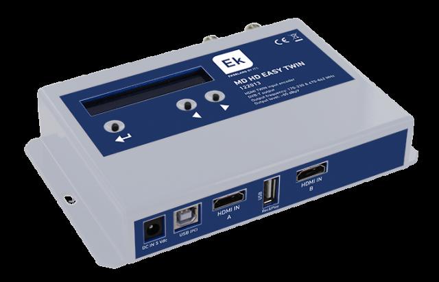 MODULADOR DIGITAL HD TWIN A COFDM + USB + MIX TER