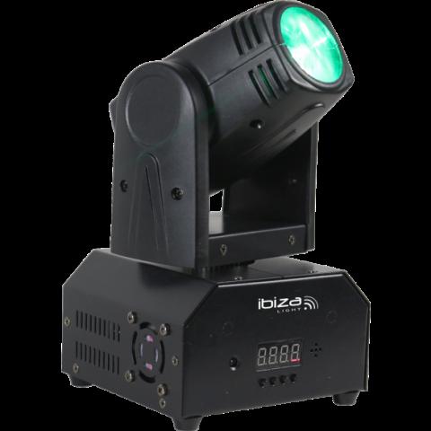CABEZA MOVIL BEAM DE LED RGBW 10W DMX CON MANDO