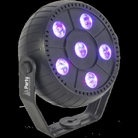 PROYECTOR PAR DE LED 6 x 1.5W RGB 3-en-1