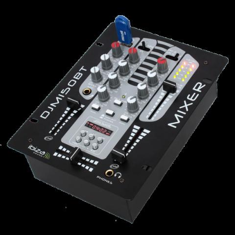 MESA DE MEZCLAS DE 2 VIAS / 5 CANALES CON USB-MP3