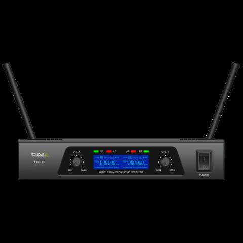 SISTEMA DE MICROFONOS UHF DE 2 CANALES