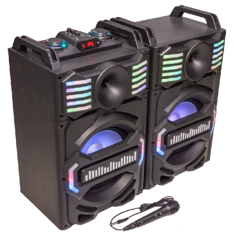 SISTEMA SONORIZACION DJ CON USB, BLUETOOTH Y MICRO