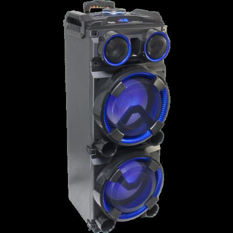 BAFLE DJ MOVIL AUTONOMO CON LED 2 x 12