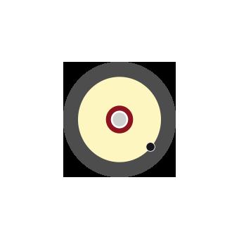 Cable 1 fibra 900um Dca negro, 500m