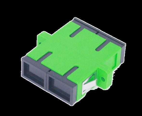 Adaptador SC/APC duplex con aletas