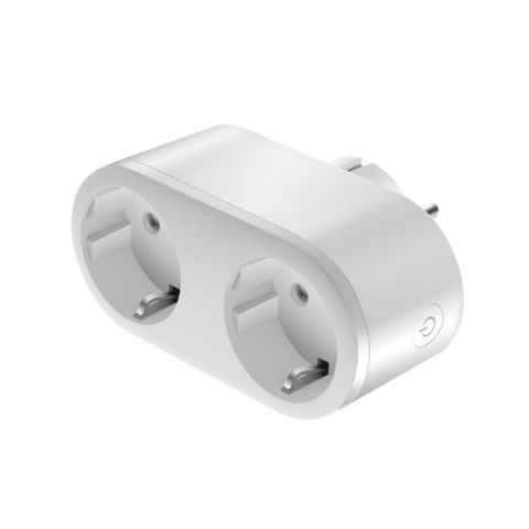 ENCHUFE INTELIGENTE SMART DOBLE 2x16A WIFI BLANCO