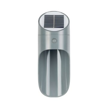 APLIQUE LED SOLAR PARED TUBULAR GRIS 90Lm  5000K