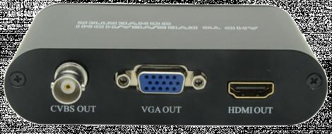 CONVERTIDOR DE VIDEO AHD A HDMI / VGA / BNC.