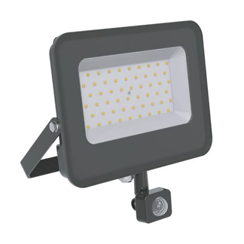 50W PROYECTOR LED SMD NEGRO 100LM/W 4500K CON SENS
