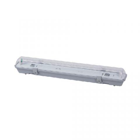 Pantalla Estanca para un Tubo de LED 1200mm T8 PC/