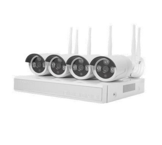 KIT 4 Cámaras Seguridad CONTROL POR WIFI 1080 230V