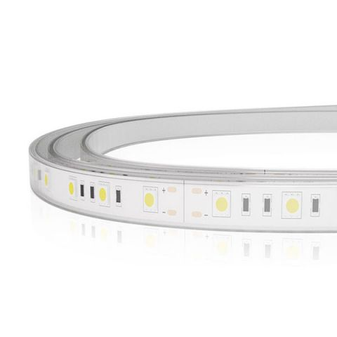 TIRA LED 24V 72W 300LED/5MTS IP67 SILICON 3200K